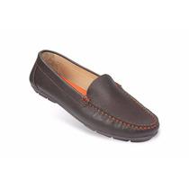 Zapato Mocasín Mega Para Dama 1681 Marrón