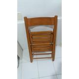 Cadeira De Madeira De Pino Semi-nova Desmontável