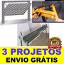 3 Projeto Portão Basculante + Dobradeira De Chapa E De Tubos