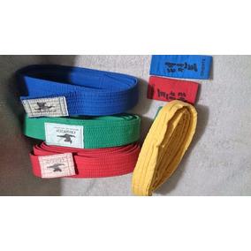 Cinturones Y Puntas Artes Marciales Rojo Amarillo Verde Azul