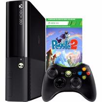 Xbox 360 4gb + Controle S Fio Peggle 2 Nacional Nf-e Lacrado
