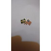 Pins, Bóttons, Broches - Bandeira Brasil X Usa - Em Metal