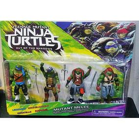 Kit 4 Bonecos Tartarugas Ninjas Nickelodeon 16cm