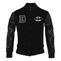 Batman Black Varsity Jacket Hombremascara De Latex Dc Comics