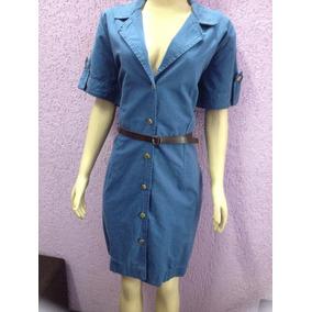 Vestido Sarja Plus Size De Botões Malwee Liquidação