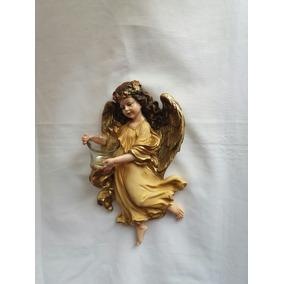 Angel Decoracion Con Vaso Cristal 35 Cm Aprox