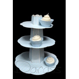 Torre Porta Cupcakes, Muffins - 3 Bandejas Fantasía