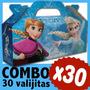 Frozen Cajita Valijita Bolsita Souvenir Cumpleaños Combo X30