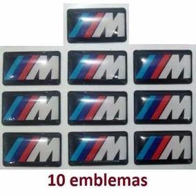 10 Mini Emblema Bmw M Motorsport Rodas Botão Volante Painel
