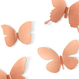 Set X9 Mariposas Metálicas De Pared Mariposas Cobre Morph
