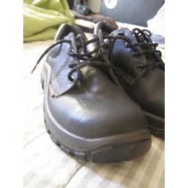 Zapatos Borcegos De Trabajo Obra Talle 42 Negro. Como Nuevos