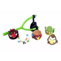 Brinquedo Angry Birds Vinil , Estilingue Com 5 Bonecos