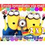 Kit Imprimible Minions Mi Villano Favorito Cumple +candy 2x1