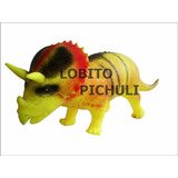 Dinosaurio De Goma Triceratops Rex Velocirraptor Mataderos