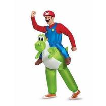 Traje Disfraz Adulto Super Mario Bros Y Yoshi Una Pieza