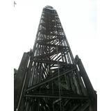 Torre Telescopica 4 Tramos 22 Metros De Altura Galvanizada