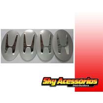 Emblema De Alumínio Da Honda 90mm