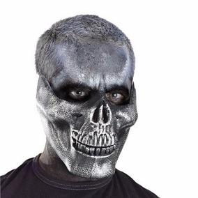 Mascara Caveira Halloween Cranio Motoqueiro Festa Terror