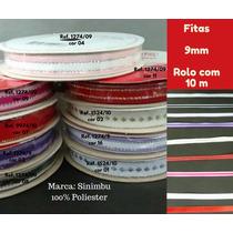 Fitas Enfeite Presente 9mm Rolo10m Coloridas Linda Promoção