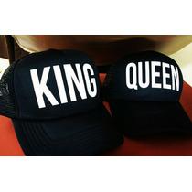 Gorras Truker King & Queen, Gorras Novios, Gorras Parejas