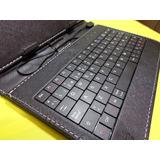 Funda Teclado Tablet 7 Pulgadas Micro Usb Negra+ Funda Gel
