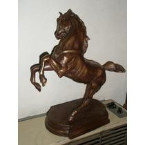 Figura , Escultura Caballo Ranpante , Firmado , Frances