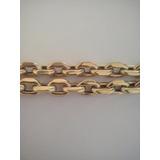 Cordão Modelo Cartier (oco)em Ouro 12k Gr.