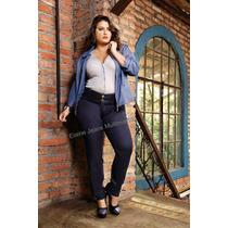 Calça Jeans Plus Size Cintura Alta Elastico Até Tamanho 56