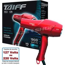 Secador De Cabelo Taiff Red Ion Profis. 1900w 110v Ou 220v