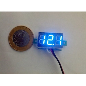 Frete Grátis Mini Voltímetro Digital Bateria Azul Remote 30v