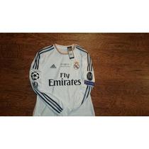 Jersey Real Madrid 2014 Final Champions League Manga Larga
