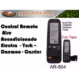 Control Remoto Aire Ar804 Carrier York Daewoo Electra Rc3