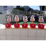 46 Lembrancinhas Mickey Minnie Serve Enfeite Ou Centro Mesa