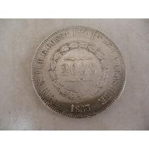 Moeda De Prata 2.000 Réis 1.863 Do Império. Rara E Original