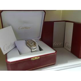 Cartier Santos Ronde Xl Automatico Oro 18k Y Acero C/caja