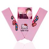 Set 8 Brochas Maquillaje Hello Kitty Con Espejo Envío Gratis
