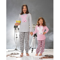 Pijamas Niñas Nenas T.4al14 Lencatex Invierno 2017 Vs Model