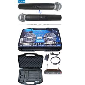 Microfone S/fio Duplo Leson Uhfde Mão Ls 802 Ht/ht