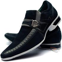 Sapato Casual Masculino Couro Nobuck( Camurça ) Dhl Calçados