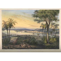 Lienzo Tela Grabado Nebel Tampico Tamaulipas México 1836