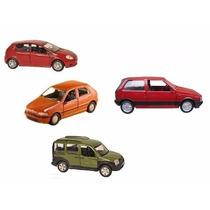 Kit Fiat - 4 Miniaturas Carro Fiat Punto+doblo+palio+uno 1.5