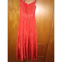 Vestido De Noche Rojo Formal