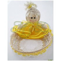 Panera Tortillero Bailarina 3 Pieza Niña Bautizo Baby Shower