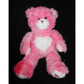 Build A Bear! Precioso Peluche Osito Rosa Con Corazón, 45cm