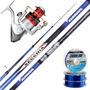 Equipo Pesca Pejerrey Caña Secchia 4.20 M + Reel Aquila 800
