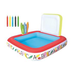 Pileta Inflable Dibuja Centro De Juego Bebes Spray 52184