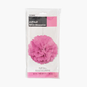 Pom Decorativo Rosa / Puff Ball Pink