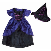 Disfraz De Bruja Brujita Vestido Niña Halloween