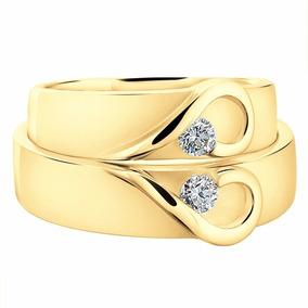 Argollas De Matrimonio Oro De 14k Boda Corazon
