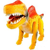 Dinossauro T-rex Anda E Emite Som Com Luz Super Brinquedos